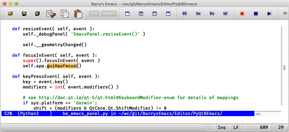 Barry's Emacs